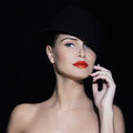 Sexy girl in hat Royalty Free Stock Photo