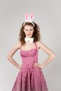 Sexy girl wearing easter bunny costume Royalty Free Stock Photo