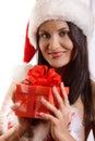 Sexy jonge santa girl Royalty-vrije Stock Foto