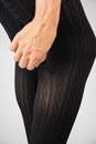 Sexy legs in tights patterned Stock Photo