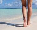 Pie en arena playa
