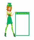 Sexy leprechaun girl illustration Royalty Free Stock Photos