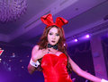 Sexy playboy girl bangkok oct an unidentified in s gothic halloween on october at grand postal building bangkok thailand Royalty Free Stock Photo