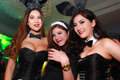 Sexy playboy girl bangkok oct an unidentified in s gothic halloween on october at grand postal building bangkok thailand Stock Image