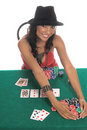 Sexy Poker Player Stock Photos