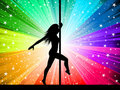 Sexy pole dancer Royalty Free Stock Images