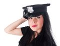 Sexy police woman Royalty Free Stock Photos