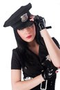 Sexy police woman Royalty Free Stock Image