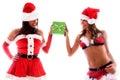 Sexy santa girls. Royalty Free Stock Images