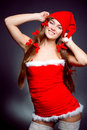 Sexy santa helper girl Stock Image