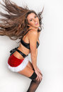 Sexy Santas Helper girl Royalty Free Stock Photo