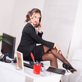 Sexy secretary Royalty Free Stock Image