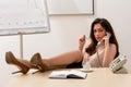 Sexy secretary. Royalty Free Stock Photo