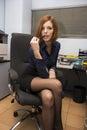 Sexy Secretary Royalty Free Stock Photo