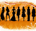 Sexy silhouettes women vector Royalty Free Stock Photo