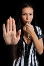 Sexy Soccer Referee Stock Photo