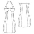 Sexy summer dress a vector illustration of Royalty Free Stock Photography