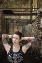 Sexy tattooed woman. Royalty Free Stock Photo