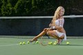 Sexy tennis girl Stock Image