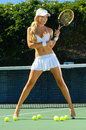 Sexy tennis girl Royalty Free Stock Photo