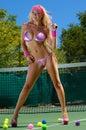 Sexy tennis girl Royalty Free Stock Photo