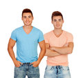 Sexy twins with shirts Royalty Free Stock Photo