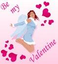 Sexy Valentijnskaart Royalty-vrije Stock Afbeelding