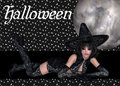 Sexy Witch Halloween Background Stock Photography