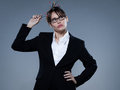 Sexy woman business secretary thinking Royalty Free Stock Photo