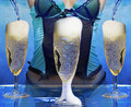 Sexy woman at a champagne celebration party Stock Photos