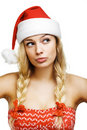Sexy woman dressed as Santa Claus Royalty Free Stock Photo