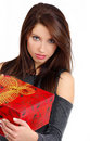 Sexy Woman with gift box Stock Photo