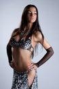 Sexy woman posing in arabian ethnic costume Stock Photos
