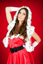 Sexy woman in santa costume Royalty Free Stock Photos
