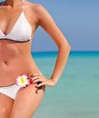 Sexy woman standing at beach Royalty Free Stock Photo