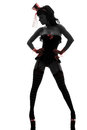woman stripper showgirl silhouette Royalty Free Stock Photo
