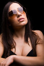 Sexy woman in sunglasses Royalty Free Stock Photos