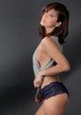 Woman in Top and Panties
