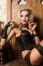 Sexy woman vamp Royalty Free Stock Photo