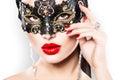 Sexy Woman Wearing Carnival Mask