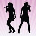 women singing vector