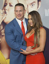 Sexy wrestlers professional john cena and nikki bella arrive on the red carpet for the world premiere of the bawdy comedy Stock Image
