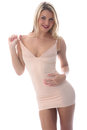 Sexy young woman posing in short tight mini dress model released attractive Royalty Free Stock Photo