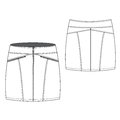 Sexy zipped mini skirt a vector illustration of Royalty Free Stock Photography