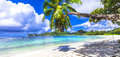 Seychelles island beaches of mahe tropical paradise on Royalty Free Stock Photography