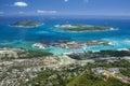 Seychelles - Mahe island - Eden island and Sainte Anne Marine Na Royalty Free Stock Photo