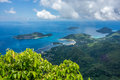 Seychelles a view from mahe main island Royalty Free Stock Images