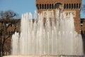 Sforza castle fountain Royalty Free Stock Photo