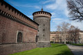 Sforza Castle in Milan Royalty Free Stock Photo