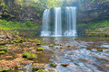 Sgwd yr eira image of the waterfall found in the brecon beacons in wales Royalty Free Stock Photos